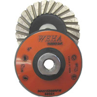 "Cupwheels Such as the Weha 4"" Rubber Backed Cupwheel"